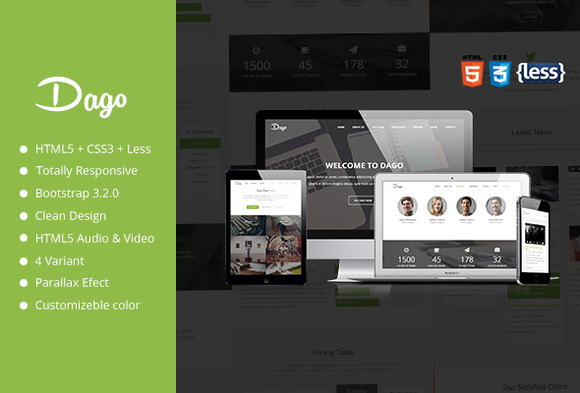 Dago Responsive One Page Template