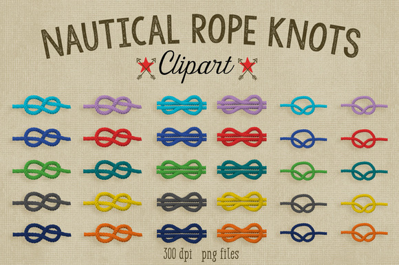 Nautical Rope Knots Clipart