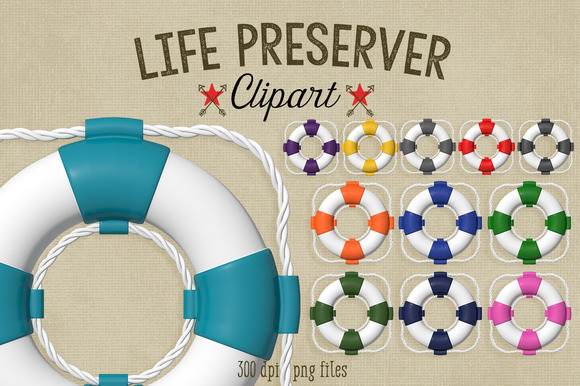 Nautical Clipart Life Preservers