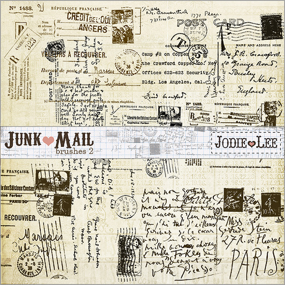 Junk Mail Postage Brushes 2