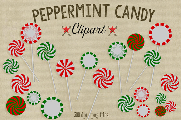 Christmas Clipart Peppermint Candy