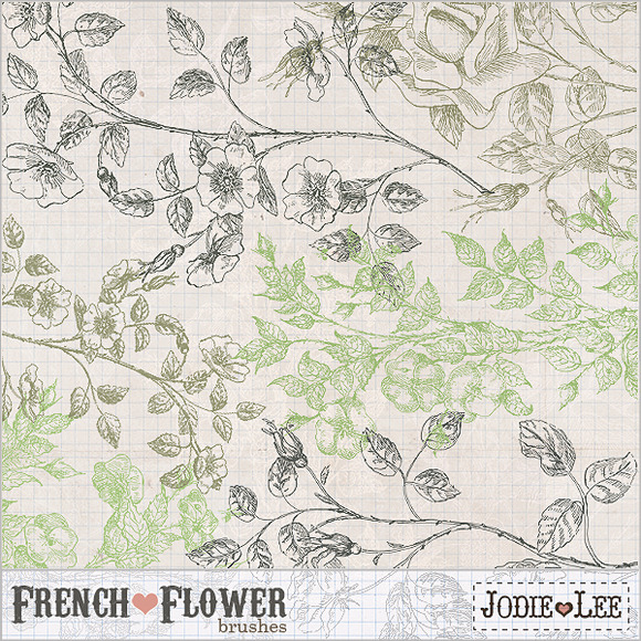 French Flower Brushes 1