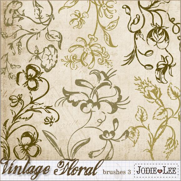 Vintage Floral Brushes 3