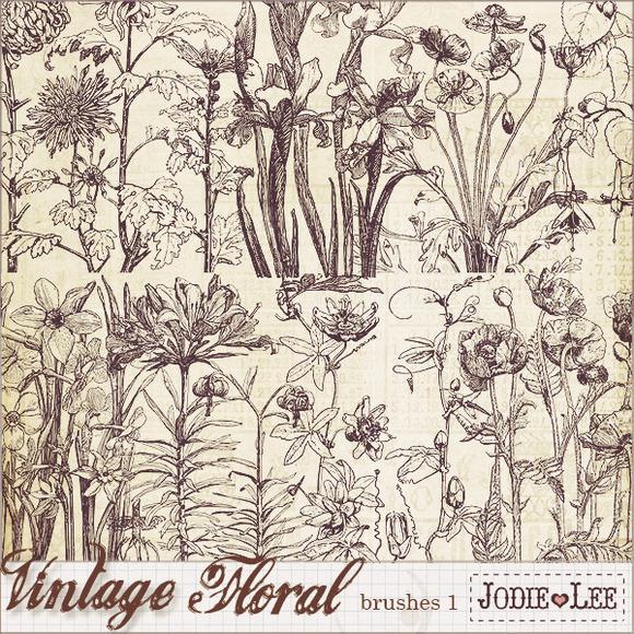 Vintage Floral Brushes 1