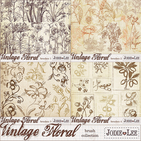 Vintage Floral Brush Collection
