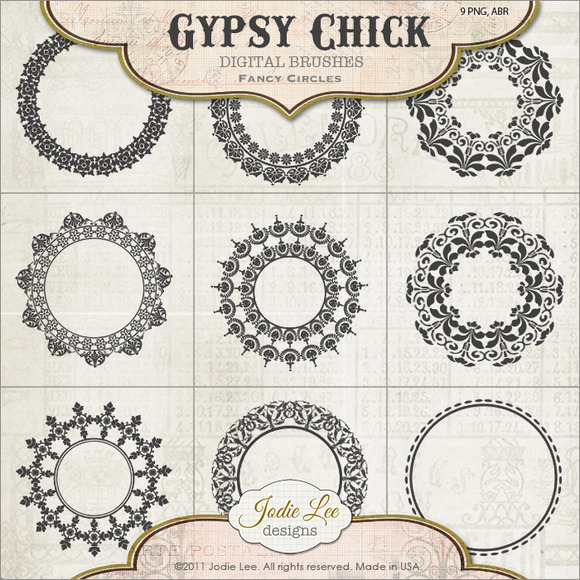 Fancy Gypsy Circle Brushes