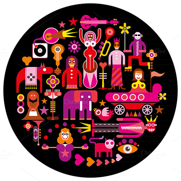 Carnival Round Vector Illustration