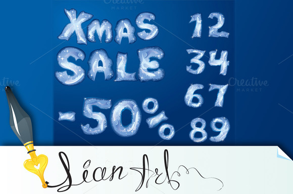 Symbol Christmas SALE Numerals