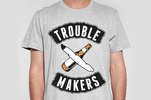 Trouble Makers T-shirt Design