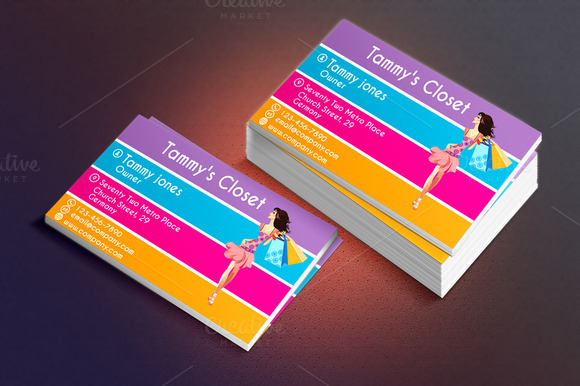 Fashionista Business Card