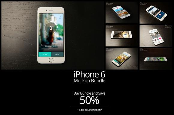 7- IPhone 6 Mock Up Bundle Vol-2