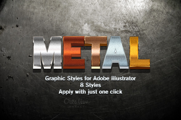 Metal Graphic Styles For Illustrator