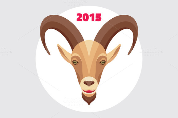 Goat Symbol Happy New Year 2015