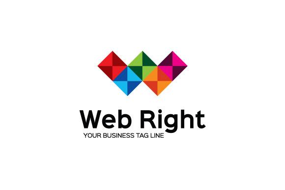 Web Right Logo Template