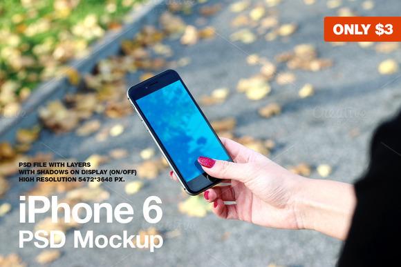 IPhone 6 PSD Mockup