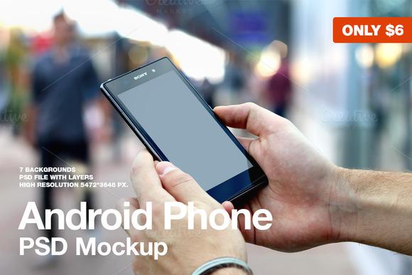 Android Phone PSD Mockup