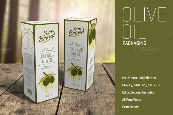 Olive Oil Packaging Template