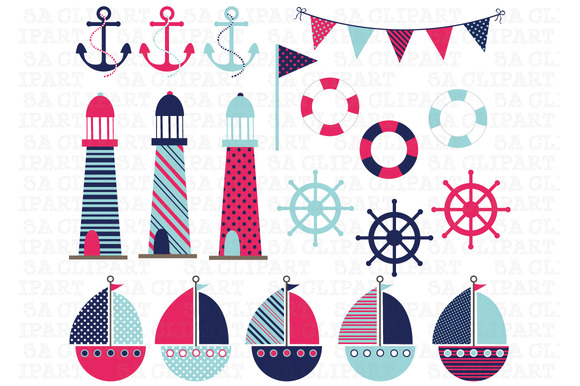 Nautical Digital Clip Art