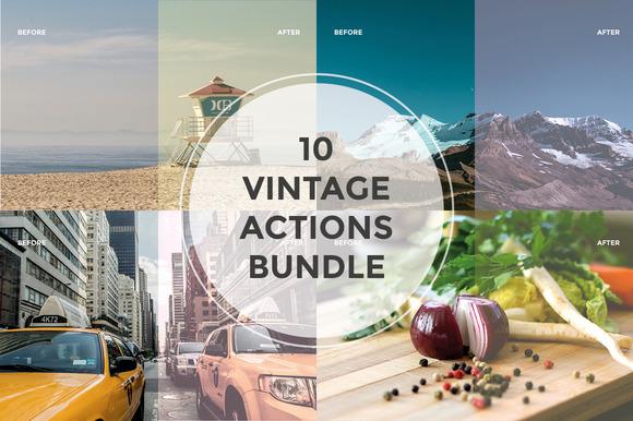 10 Vintage Actions Bundle