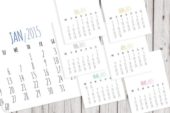 2015 Calendar DIY Template
