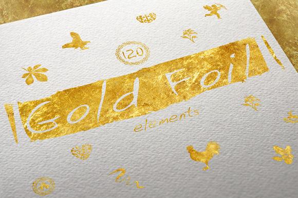 120 Gold Foil Elements