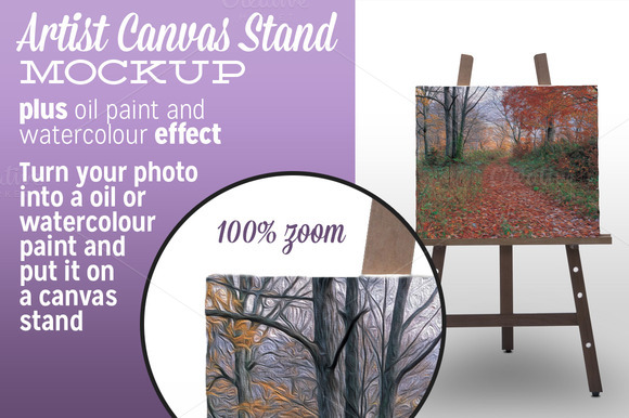 Artist Canvas Stand Mockup