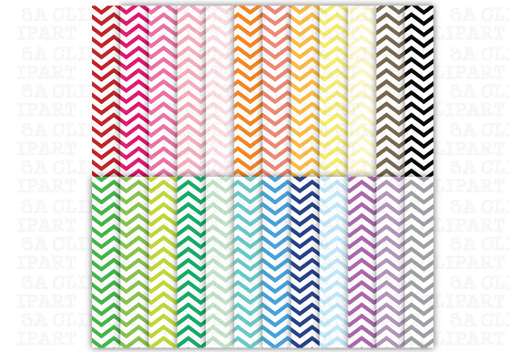 24 Chevron Digital Papers Pack