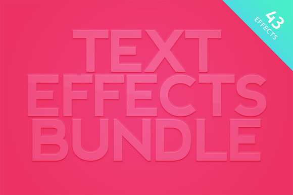 Photoshop Text Effects Bundle
