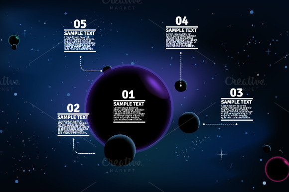 4 Space Infographic