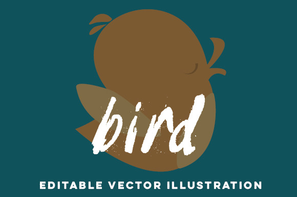 Hand-Drawn Bird Vector Cartoon