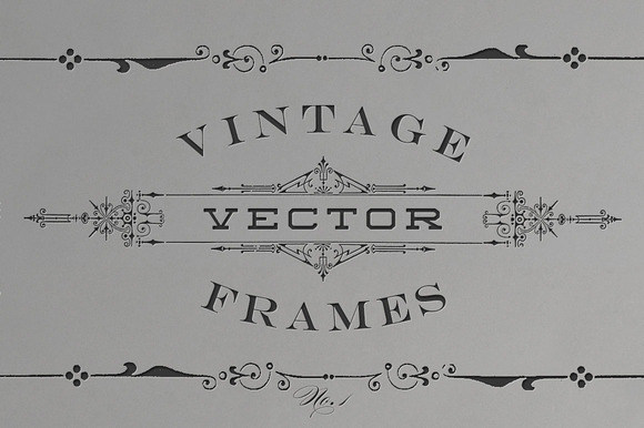Vintage Vector Titling Frames