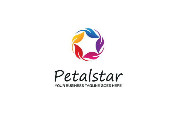 Petal Star Logo Template