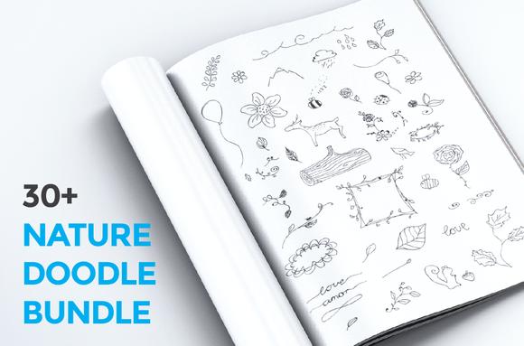 30 Nature Doodles Bundle