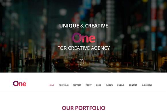 One Onepage Creative Portfolio