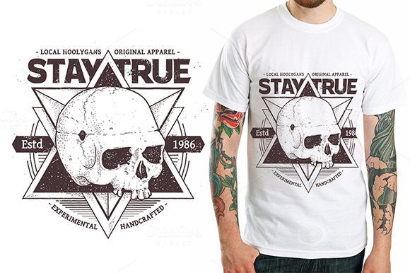 Dotwork Skull Print #3
