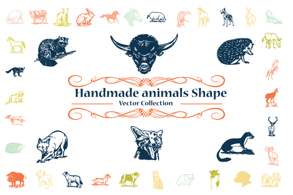 Handmade Animals Vector Shapes