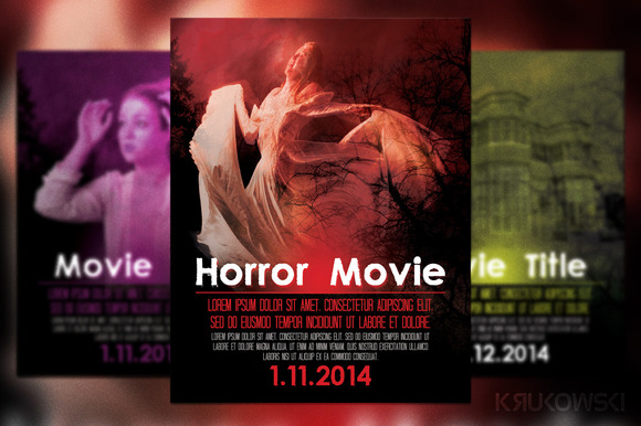 Horror Movie Poster Flyer