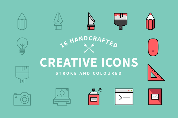 Flat Creative Icon Set