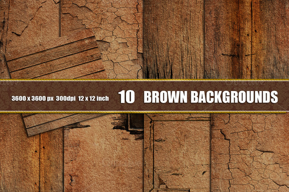 10 BROUN DISTRESSED WALL BACKGROUNDS