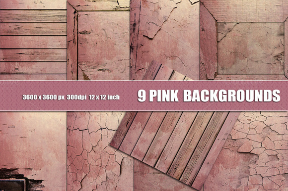 9 Distressed Wall Background Pink