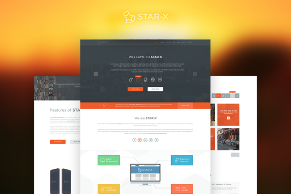 Star-X Business Single Page Template