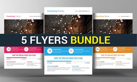 5 Corporate Business Flyers Bundle