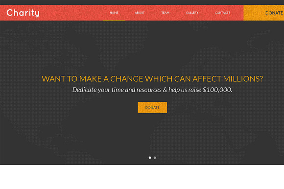 Charity Responsive One Page Theme