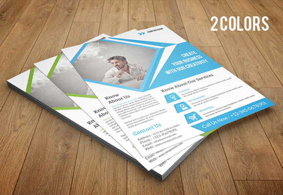 Corporate Flyer Template 2 Color