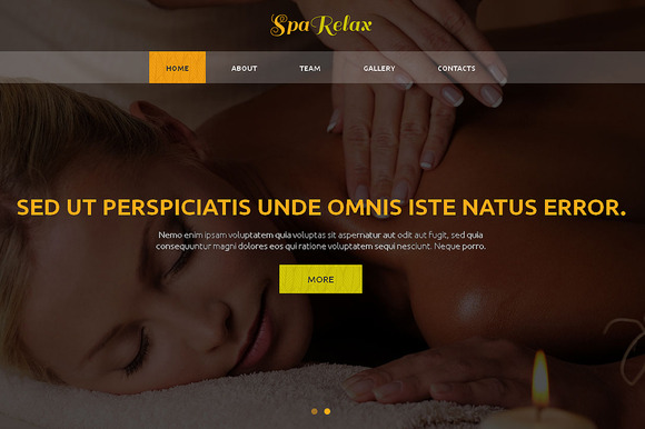 Spa Relax Responsive One Page Theme