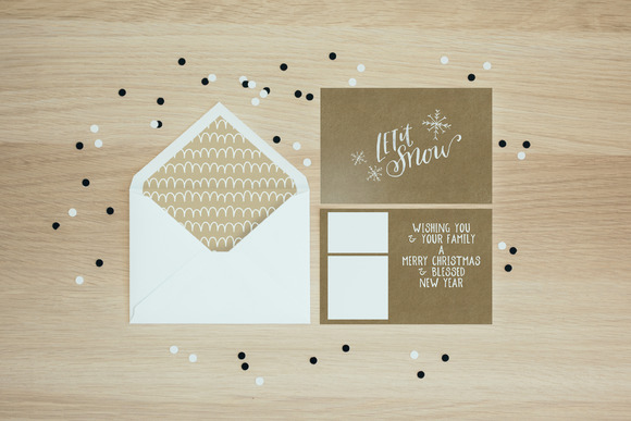 Hand Lettered Holiday Cards
