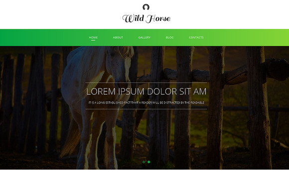 Wild Horse Responsive One Page Theme