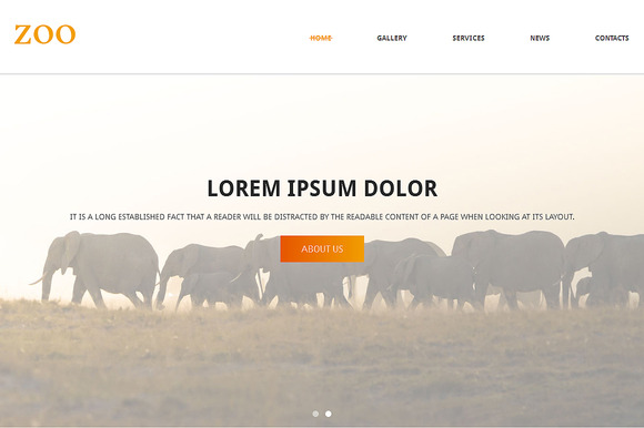 Zoo Responsive One Page Theme