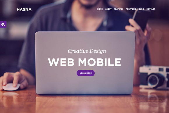 Hasna One Page Responsive Business