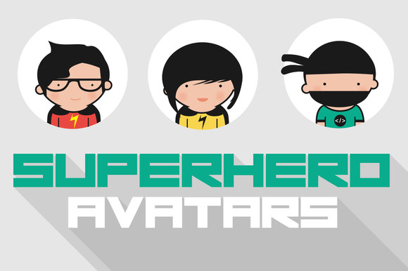 Vector Superhero Avatars